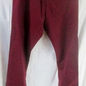 NEW GROWN & SEWN USA Pants Jeans BURGUNDY RED